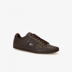 Mens Chaymon Synthetic and Leather Sneakers