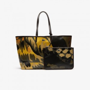Womens Robert George Large Coated Print Canvas Tote Bag
