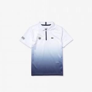 Boys SPORT Roland Garros Zip-Up Polo Shirt