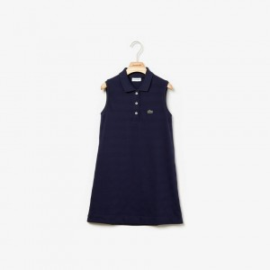Girls Petit Pique Polo Dress