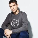 Mens SPORT Fleece And Lettering Tennis Sweatshirt