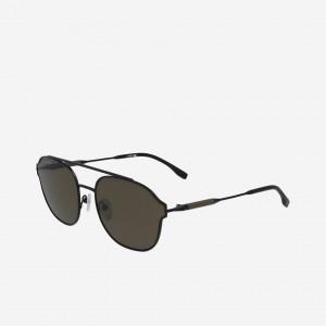 Navigator Metal Leather Punch Sunglasses