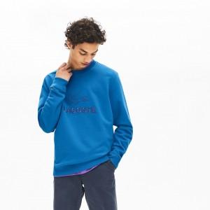 Men's Logo and Croc Crew Neck Fleece Sweatshirt
