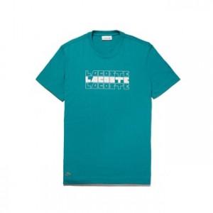 Mens Crew Neck Lettering Cotton Jersey T-shirt