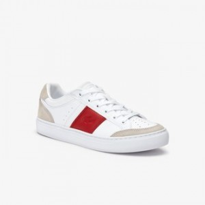 Mens Courtline Leather and Suede Sneakers