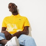 Mens Olympic Heritage Collection By Lacoste Petit Pique Polo