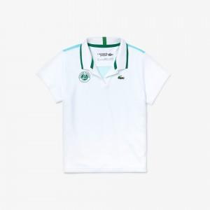 Girls SPORT Roland Garros V-Neck Polo Shirt