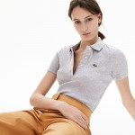 Womens Ribbed Cotton Polo
