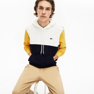 Men's Cotton-Pique and French Terry Colorblock Sweatshirt