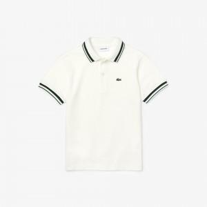 Boys Contrast Detail Cotton Pique Polo