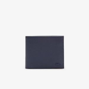 Mens Classic Petit Pique Three Card Wallet