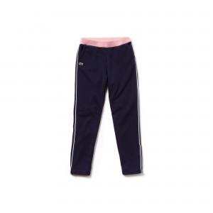 Girls Contrast Accents Fleece Sweatpants