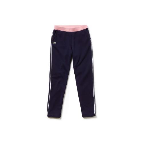 라코스테 Girls Contrast Accents Fleece Sweatpants