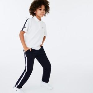 Boys Lacoste Badge Cotton Pique Polo Shirt