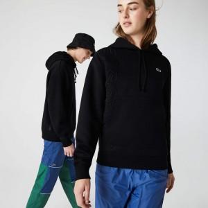 Unisex LIVE Hooded Embroidered Cotton Blend Sweatshirt