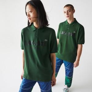 Unisex LIVE Loose Fit Branded Cotton Pique Polo Shirt