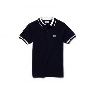 Boys Candy Striped Cotton Polo Shirt