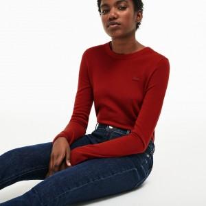 Womens Crew Neck Wool Jersey Sweater