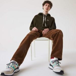 Mens Contrast Pocket Fleece Sweatshirt