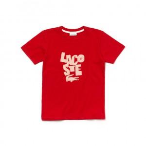 Boys Crew Neck Lettering T-Shirt