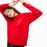 Womens LIVE Slit Hemline Cashmere And Cotton Sweater