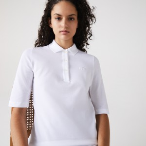 Womens Classic Fit Supple Cotton Polo