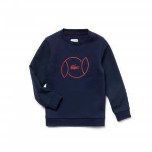 Boys SPORT Fleece And Lettering Tennis Sweatshirt