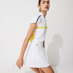 Womens Lacoste SPORT Tennis Technical Mesh Pleated Skirt