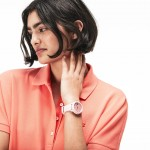 Ladies Lacoste.12.12 Watch with Pink Silicone Petit Pique Strap