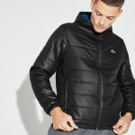 Mens SPORT Hooded Water-Resistant Taffeta Tennis Jacket