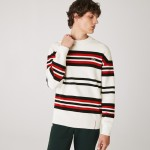 Mens Made in France Striped Organic Cotton Crew Neck Sweater
