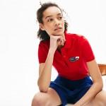 Womens Slim Fit Stretch Mini Pique Polo