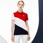 Womens French Sporting Spirit Edition Colorblock Mini Pique Polo