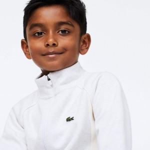Boys' Full-Zip Contrast Side Panels Fleece Sweatshirt
