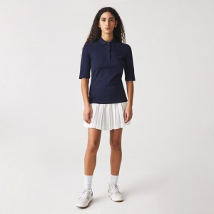 Womens Classic-Fit Cotton Polo