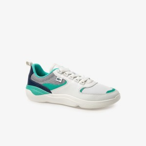 Mens Wildcard Leather and Textile Sneakers