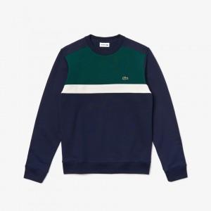 Mens Color-Block Cotton Fleece Sweatshirt