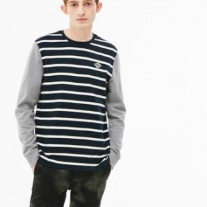 Mens LIVE Striped Cotton Jersey T-shirt