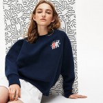 Womens Keith Haring Design Cotton Blend Sweatshirt
