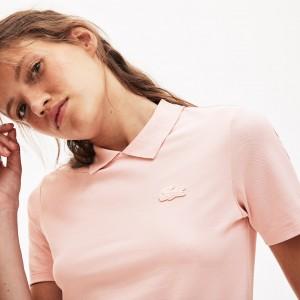 Womens LIVE Slim Fit Velvet Croc Stretch Pique Polo Shirt
