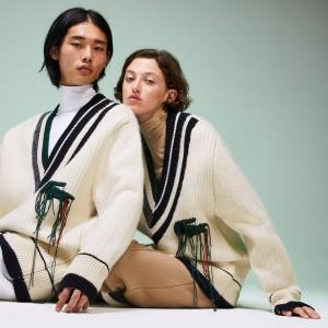 Unisex Fashion Show Oversized V-neck Sweater