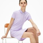 Womens Stretch Cotton Pique Polo Dress