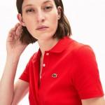 Womens Ribbed Cotton Polo