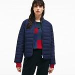 Womens Zippered Quilted Soft Taffeta Jacket