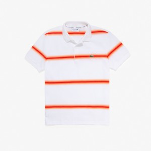 Mens Made in France Regular Fit Cotton Pique Polo Shirt