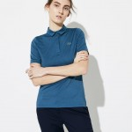 Womens SPORT Snap Neck Striped Technical Golf Polo