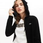 Womens SPORT Tennis Cashmere Jersey Zip Sweatshirt