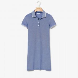 Womens Slim Fit Mini Pique Polo Dress