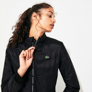 Womens SPORT Quilted Zip-Front Tennis Jacket