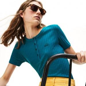 Womens Ribbed Knit T-shirt